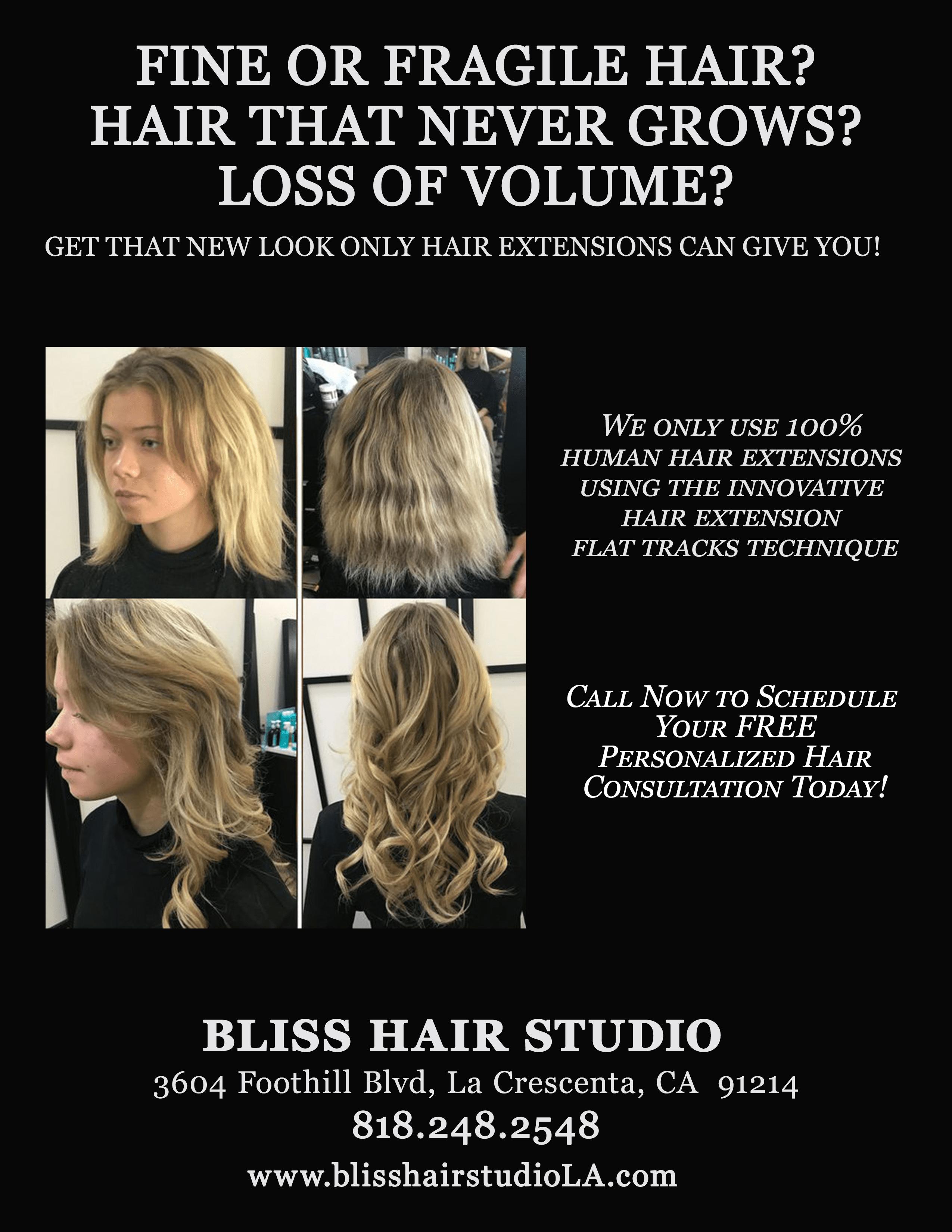 Hair Extensions Promo 10 2017r Bliss Hair Studio